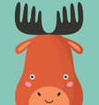 cute moose snout flat vector image vector image