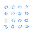 directional arrow set vector image