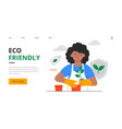 eco friendly and sustainable lifestyle concept vector image