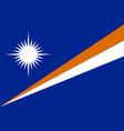 flag marshall islands flat style vector image vector image