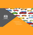 flat colorful cars composition vector image vector image