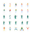 flat icons set of people vector image