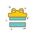 gift box icon design vector image vector image