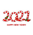 greeting card or poster happy new year vector image vector image