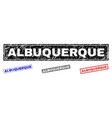 grunge albuquerque textured rectangle watermarks vector image vector image