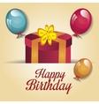 Happy birthday gift isolated icon design