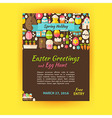Happy Easter Holiday Template Poster Flat Style vector image