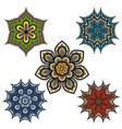 indian paisley ornaments or mandala floral pattern vector image vector image