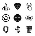 interface pictogram icons set simple style vector image