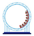 isolated roller coaster vector image vector image