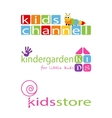Kids Places Logo Template vector image
