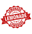lemonade stamp sign seal vector image vector image