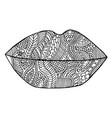 Lips lipstick zen kiss tangle pattern