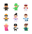little superheroes hero comic cartoon 2d figures vector image vector image