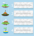 Low poly islands with steps and numbers vector image