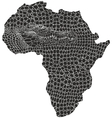 Map of Africa in crocodile camouflage vector image vector image