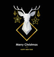 merry christmas and happy new year scandinavian vector image vector image