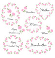mothers day set with roses vector image