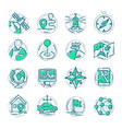 navigation outline location pin pictogram icons vector image vector image