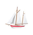ocean sailboat isolated on white icon vector image vector image