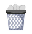 office paper trash recycle document vector image
