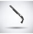 Pump-action shotgun icon vector image vector image