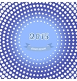 retro happy new year card 2015 vector image