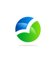 round bio colored technology logo vector image vector image