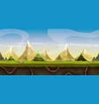 seamless mountains landscape for game ui vector image
