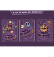 Set of cards Halloween doodles vector image