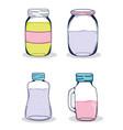 set of mason jars vector image vector image