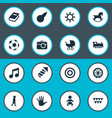 set simple kid icons vector image