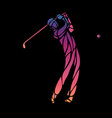 silhouette golf player eps10 vector image vector image