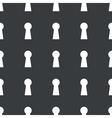 Straight black keyhole pattern vector image vector image
