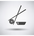 Sushi with sticks icon vector image