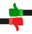 thumbs up down hand vector image vector image
