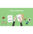 total liquidation concept with vector image vector image