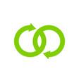 transfer infinity logo icon design vector image