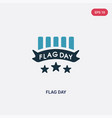 two color flag day icon from united states of vector image