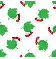 viburnum seamless pattern vector image vector image