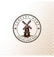 vintage retro windmill badge label logo design vector image