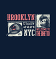 vintage urban typography with gorilla face vector image vector image