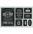 Vintage wedding invitation chalkboard design vector image vector image