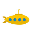 yellow submarine icon flat style vector image vector image