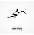 horse riding icon vector image
