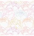 peonies pattern vector image