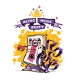 Retro Music Party Poster vector image