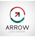 arrow company logo vector image vector image