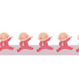 baby girl seamless border repeating vector image
