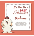 baby shower invitation with cute animal vector image vector image